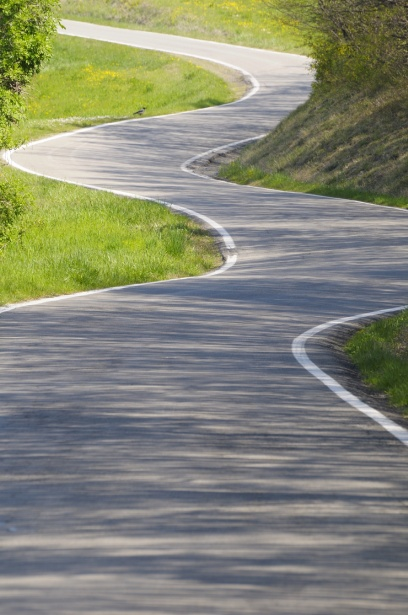Slingrande väg Gratis Stock Bild - Public Domain Pictures